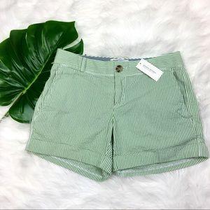 Banana Republic NWT Green & White Stripe Shorts